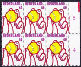 Plaatfout  1051 P  in blok van 6 Postfris Cataloguswaarde 12,00 E-5948