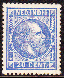 NVPH 12A Koning Willem III Ongebruikt cataloguswaarde: 180,00