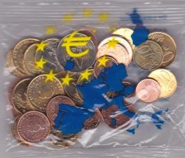 Euro Omwissel zakje ter kennismaking van de euro  2002 UNC