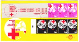 FDC E121 met compleet Rode Kruis boekje ZELDZAAM!