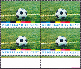 Plaatfout  1050 PM5 Postfris in blok van 4 Cataloguswaarde 15,00