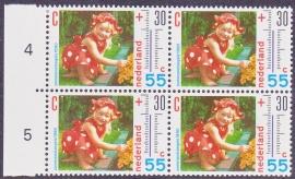 Plaatfout  1444 PM2  Postfris in blok van 4  Cataloguswaarde 18,00