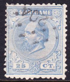 NVPH 10aD Kamtanding 11,5 X 12 Koning Willem III Gebruikt Cataloguswaarde 50,00