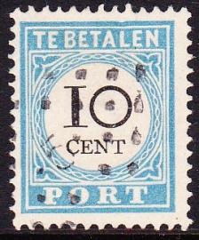 Port P7 Cijfer en waarde in zwart + PLAATFOUT ''Deuk bovenkader'' gebruikt cataloguswaarde --,-- E-1034