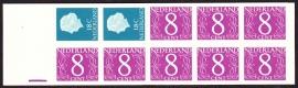 Postzegelboekje  4Za Registerstreep paars 10 mm  LuXe Postfris  Cataloguswaarde 15,00 A-0365