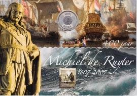 NVPH 2495 Mooi Nederland Vlissingen in Michiel de Ruyter uitgifte met  5 euro munt