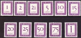 NVPH P36-46 Port Cijfer en waarde in rechthoek Ongebruikt Cataloguswaarde: 250.00