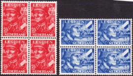 NVPH  402-403 Legioenzegels in blokken van 4 Postfris Cataloguswaarde 45,00