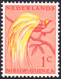 Plaatfout Ned. Nieuw Guinea 25 PM2 Postfris