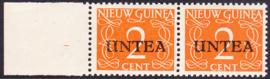 Plaatfout Ned. Nieuw Guinea 2 P op UNTEA 2 Postfris