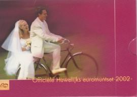 Jaarset 2002 Huwelijks EURO-set + Huwelijkspenning  BU