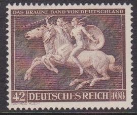 Mi 780 Galoprennen ''Das Braune Band von Deutschland'' Postfris Cataloguswaarde: 12,00 E-2296