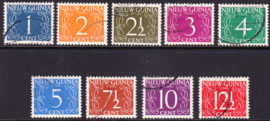 NVPH 1-9 van Krimpen gestempeld
