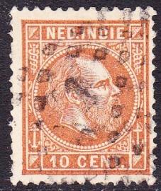 NVPH 9 Koning Willem 3 Gebruikt Cataloguswaarde: 0,50 E-0908