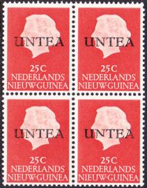Ned. Nieuw Guinea / UNTEA  Opdrukafwijking UNafw PM5  op de 25 CT Postfris