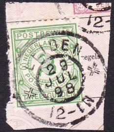 NVPH PW3 Postbewijs Op deel formulier luxe gebruikt! Cataloguswaarde: --.--