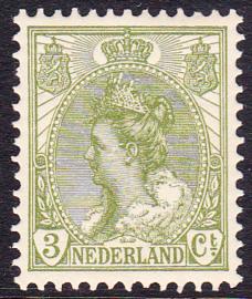 NVPH  57 Koningin Wilhelmina Postfris Cataloguswaarde 3.00