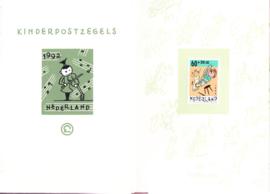 ZEER ZELDZAAM LEPORELLO BOEKJE kinderpostzegels 1992 door Ever Meulen