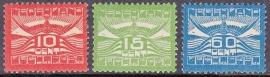 Luchtpost LP 1-3 Ongebruikt  Cataloguswaarde 250.00  E-2391