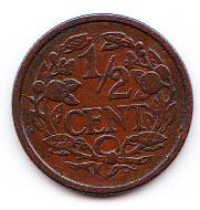 Halve cent 1912 Koningin Wilhelmina   (Pracht)