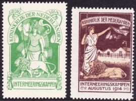Internering IN1 & IN2 origineel Postfris positie 49&44 Cataloguswaarde 650.00