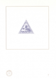NVPH BD7 Blauwdruk  2009 Cataloguswaarde 5,00