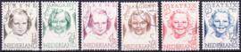 NVPH  454-459 Prinsessenzegels 1946 gebruikt