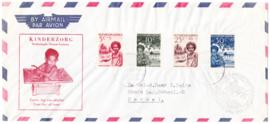 Kinderzegels 1957 op FDC VOORLOPER