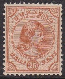 NVPH   22 Prinses Wilhelmina Ongebruikt Cataloguswaarde 180,00