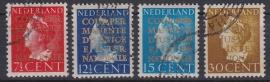NVPH  D16-19 Dienstzegels gebruikt Cataloguswaarde 40.00  A-0374
