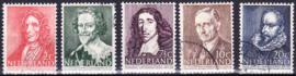 NVPH  490-494 Zomerpostzegels 1947 gebruikt