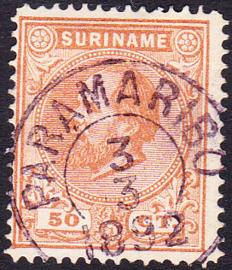 NVPH 13  Koning Willem III Gebruikt Cataloguswaarde 25,00