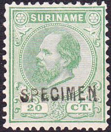 Suriname NVPH 9 met opdruk SPECIMEN ongebruikt