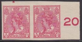 NVPH   82 Koningin Wilhelmina Ongetand Ongebruikt  Cataloguswaarde 20.00  E-4664