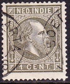 NVPH 3 Koning Willem 3 Gebruikt Cataloguswaarde: 8,00 E-0109