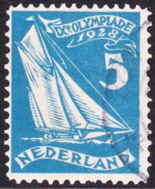 Plaatfout  215 P2   Gebruikt Cataloguswaarde 45.00