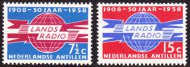 NVPH  291-292 ''50 jaar landsradio'' 1958  Postfris cataloguswaarde: 0,80