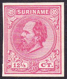 Suriname Proef 10b van de 12½ Ct. Willem III zoals uitgegeven zonder gom