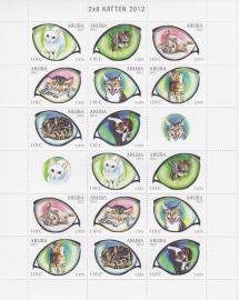 NVPH  623-630  Katten (Compleet vel) Postfris  2012 A-0874