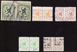 Bevrachtingszegels 1940 ministerie van verkeer en waterstaat in horizontale paren