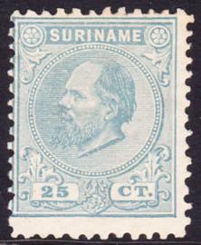 NVPH 10D Kamtanding 11,5 X 12 Koning Willem III Ongebruikt Cataloguswaarde 150,00