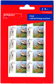 NVPH 1727 Hangzakje ''tien vakantiegroeten'' Postfris
