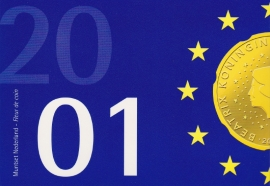 Jaarset 2001 Koninklijke Ned. Munt in boekvorm FDC