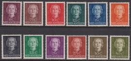 NVPH  218-229 Koningin Juliana ''en face'' Postfris cataloguswaarde: 85.00  E-1440