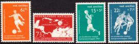 NVPH  265-268 ''Voetbalkampioenschappen'' 1957  Postfris cataloguswaarde: 10.00