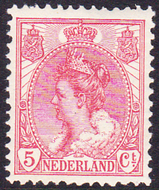 NVPH  60 Koningin Wilhelmina Postfris Cataloguswaarde 6.00
