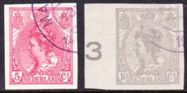 NVPH   82-83 Koningin Wilhelmina Ongetand Cataloguswaarde 20.00