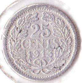 25 cent Zilver 1913 (Fraai)