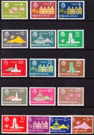 NVPH  275-290 ''Diverse voorstellingen'' 1958-1959  Postfris cataloguswaarde: 20.50