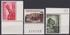 OBP 943-945  ''Gedenkteken politieke gevangenen'' 1954 Postfris / MNH Cataloguswaarde: 125,00 E-2879